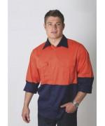 Cotton Drill Hi ViZ Shirt Adults